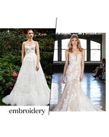 fall 2019 bridal fashion week trends embroidery