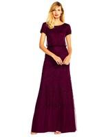 beaded burgundy gown