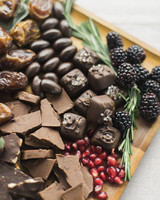 chocolate and fruit platter