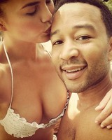 Chrissy Teigen on Honeymoon in Italy