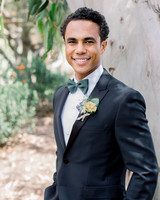 cool groom accessories gray green bowtie paired with suit