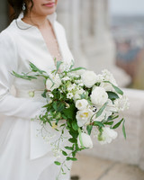diana alex wedding bouquet white