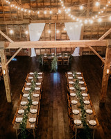 eric eryc wedding reception barn