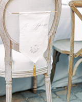 erika evan wedding bride and groom seats