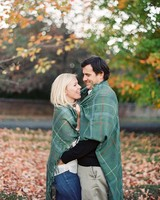 fall couple blanket