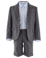 charcoal ring bearer suit
