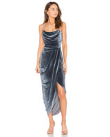 metalic velvet dress