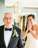 father daughter moment wedding surprise