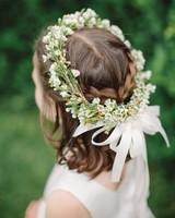 Flower Girl Hairstyle Crown Braid Half Up Half Down