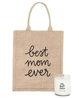 gifts for mom tote bag and candle