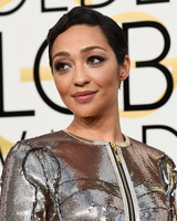 Ruth Negga Beauty Look Golden Globes