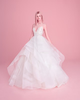 hayley paige wedding dress spring 2019 ruffled skirt lace bodice