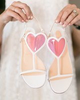 heart wedding shoes