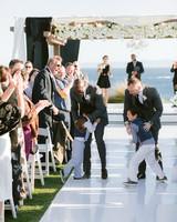 henery michael wedding ceremony couple and kids