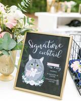 cat inspired signature cocktail
