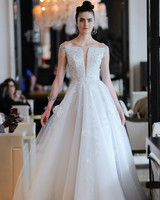off the shoulder beaded a-line wedding dress Ines Di Santo Spring 2020