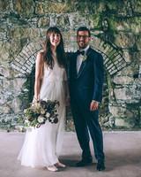 wedding couple stone