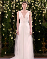 jenny packham wedding dress spring 2019 v-neck with tulle