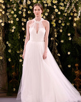 jenny packham wedding dress spring 2019 ball gown applique halter