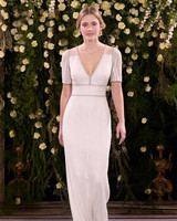 jenny packham wedding dress spring 2019 v-neck sheath with beadwork