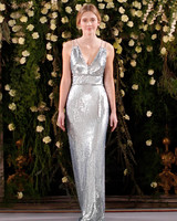 jenny packham wedding dress spring 2019 silver v-neck with sequins