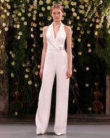 jenny packham wedding dress spring 2019 belted halter jumpsuit