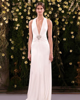 jenny packham wedding dress spring 2019 deep v-neck with front embellishment