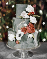 katie andre wedding cake flowers three-tier