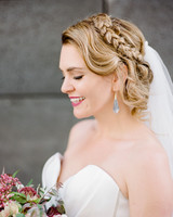 katie andre wedding bride hair updo braid