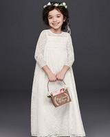 lace crochet flower girl dress from davids bridal