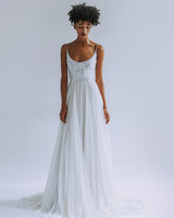 Leanne Marshall a-line wedding dress with scoop neck fall 2019