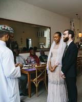 lola quinlan elopement ceremony bride groom