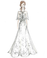 melissa sweet wedding dress sketch
