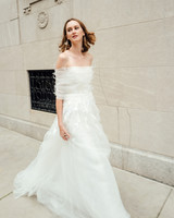 mira zwillinger dress fall 2019 ball gown off the shoulder tulle floral applique