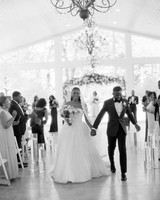 niara allen wedding couple recessional