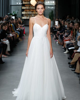 nouvelle amsale wedding dress spaghetti strap sweetheart a-line