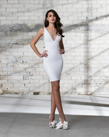 pnina tornai wedding dress spring 2019 short body con v neck