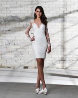 pnina tornai wedding dress spring 2019 short long sleeves lace