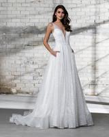pnina tornai wedding dress spring 2019 sleeveless a-line sparkly