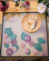 Pressed Flower Wedding Place Mat