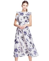 Lela Rose Floral Printed Mother of the Bride Dress