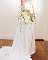 rae rob wedding bridal bouquet