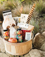 camping welcome basket