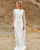 savannah miller fall 2018 boat neck cape wedding dress