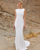 savannah miller fall 2018 boat neck column wedding dress