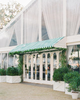shelby barrett wedding tent entrance