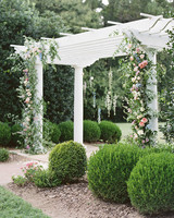 shelby preston wedding ceremony arch