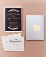 shqipe zenel wedding invitation suite