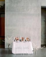 concrete slab backdrop behind sweetheart table