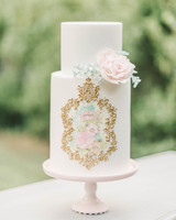 Small Wedding Cake with Ornate Detail